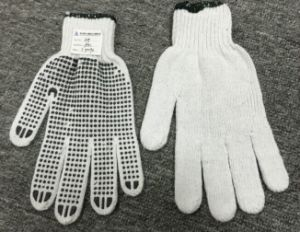 Industrial Safety Knitted Dotted White Cotton Hand Work Gloves for Wholesale Ship (SJIE1002) pictures & photos