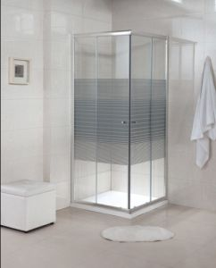 Sanitary Ware Customized Hinged Tempered Glass Simple Shower Room (A22) pictures & photos