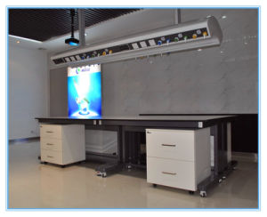 2014 New Hot Sale 5 Year Warranty Lab Island Bench with Removable Cabinet pictures & photos