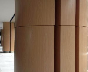 Wooden Color Aluminum Sheet / Aluminum Plate for Column Cover pictures & photos
