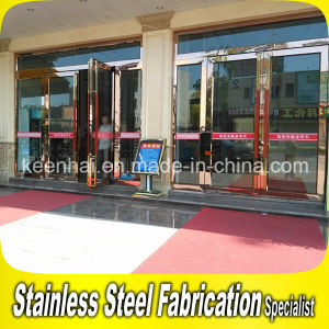 Golden Luxury Exterior Metal Stainless Steel Swing Security Glass Entry Door Frame pictures & photos