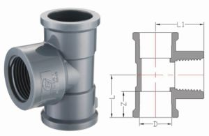 PVC-U Pipe Fittings for Water Supply Female Tee (A63) pictures & photos