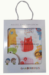 Printed Muslin Baby Blankets, 100% Cotton Material pictures & photos