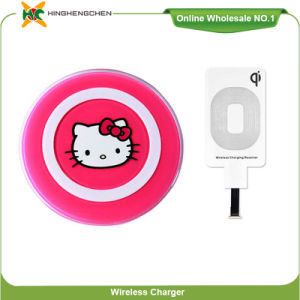 Hello Kitty Cartoon Qi Mini Magnetic Wireless Charger pictures & photos