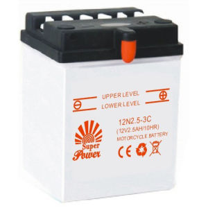 Dry-Charged Motorcycle Battery 12N2.5-3C with CE UL certificate pictures & photos