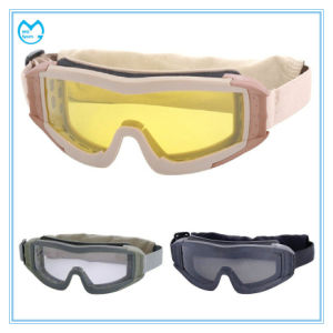 Anti Shock Yellow PC Lens Sports Glasses Military Goggles pictures & photos