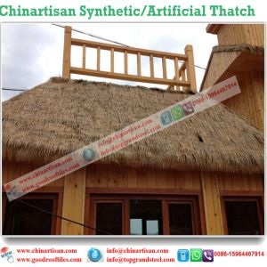 Natural Look Synthetic Thatch for Tiki Bar/Tiki Hut Synthetic Thatched Cottage Water Bungalow Beach Umbrella pictures & photos