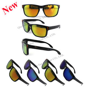 New Style Plastic Sunglasses with Mirror CE Approval UV400 Protection