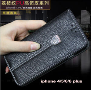 Excellent PU Leather Case Mobile Phone Cover for iPhone 4/5/6