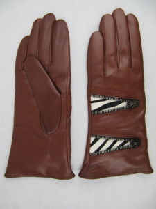 Lady Fashion Leather Gloves (JYG-27109) pictures & photos