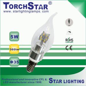 Aluminum Heat Sink E14 5W F35 LED Light