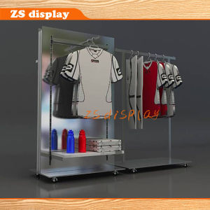 Gondola Metal/Wood Socks/Shoes/Metal Clothing Display Rack (ZS-991)