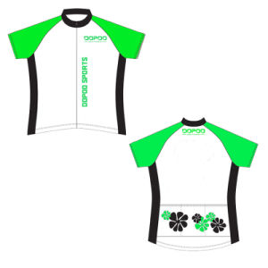 Man′s Short Sleeve Cycling Jersey 100% Polyester pictures & photos
