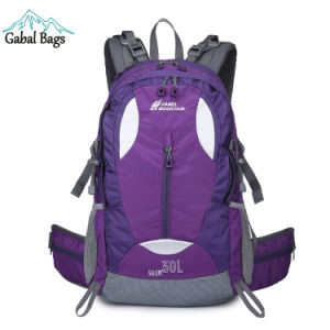 Camel Moutain Nylon Daypack Lightweight Sports Travel Bag Backpack pictures & photos