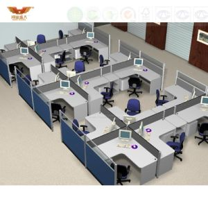 High Quality New Design Modern Straight Office Partition Workstation (HY-2799) pictures & photos