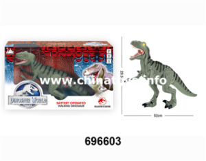 Promotion Gift B/O Plastic Dinosaur Toy (696603) pictures & photos