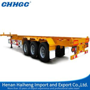 3 Axles 20FT 40FT Container Skeleton or Flatbed Semi Trailer pictures & photos