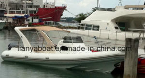 Liya 27ft China Cabin Rib Boats with Engines Hypalon Inflatable Boat pictures & photos