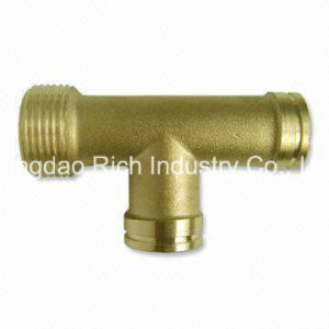 Brass Tee/Brass Part, Brass Forging Part pictures & photos