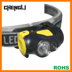Chengli Light-Weight 90lumens 1 CREE LED+1 Red LED Headlight with 3PCS AAA Size Battery (LA1230)