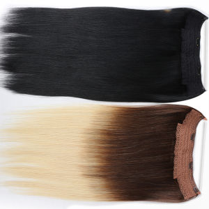 26 Inch Indian Remy Human Hair Cheap Halo Flip in Hair Extensions pictures & photos