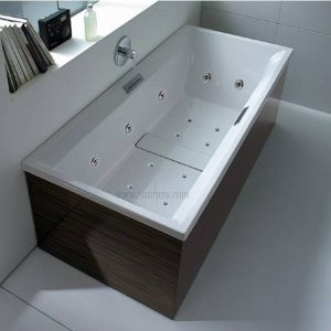 Indoor Acrylic Freestanding Massage Bathtub (SR5E002) pictures & photos