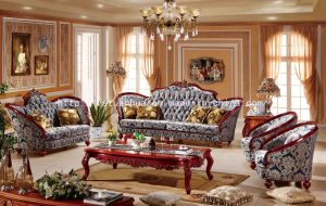 High End European Room Furniture Fabric Sofa   (TH539)