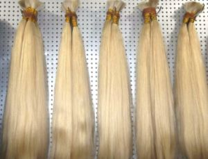 Natural Blonde Virgin Remy Human Hair Bulk pictures & photos