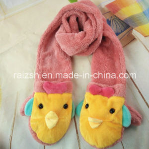 Children′s Winter Cartoon Plush Gloves and Scarves pictures & photos