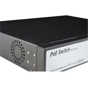 10/100/1000m 16 Port Poe Network Switch 2SFP Uplink Surge Protection Suppport Hik and Dahua Camera pictures & photos
