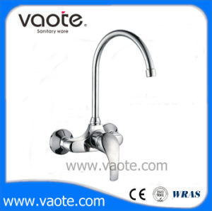 Brass Body Single Handle Sink Wall Mixer/Faucet (VT12002) pictures & photos