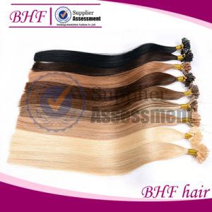"18""20""22"" Nail U Tip Keratin Hair Extension Mega Unprocessed Peruvian Virgin Straight Hair Free Shipping Hot Selling Nail U Tip pictures & photos"