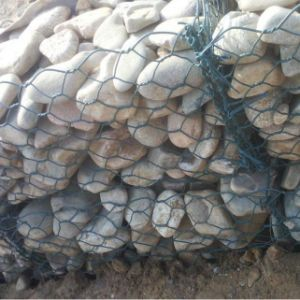 Heavy PVC Coated Green Gabion Basket Retaining Wall pictures & photos