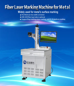 20W Fiber Marking Machine for Food and Beverage Packaging pictures & photos