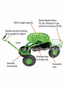 Rolling Garden Deluxe Tractor for Gardeners pictures & photos