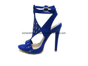 Hot Sale Wholesale Women Fashion High Heel Sandals with Peep Toe pictures & photos