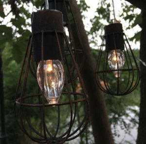 Solar Powered LED Vintage Cage Garden Light (RS1007) pictures & photos