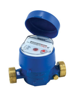 Single Jet Dry Dial External Adjusting Device Water Meter