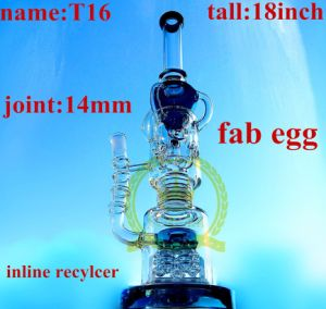 Tall Tobacco Recycler Glass Smoking Water Pipe with Button Perc pictures & photos