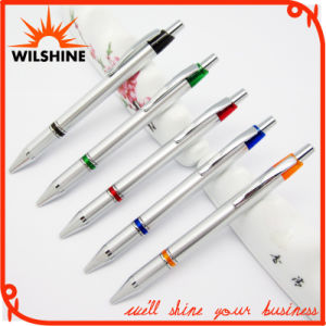 Quality Plastic Ball Pen with Metal Clip for Promotion (BP0210S) pictures & photos