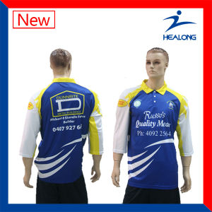 Wholesale Full Dye Sublimated Polo Shirts with Long Sleeve pictures & photos