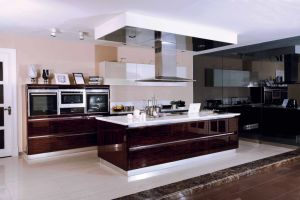 Pole Lacquer Painting Simple Kitchen Cabinets (zz-059) pictures & photos