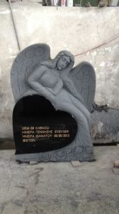 Black Granite Cheap Flat Grave Markers Engraving Gravestones Tombstones for Sale pictures & photos
