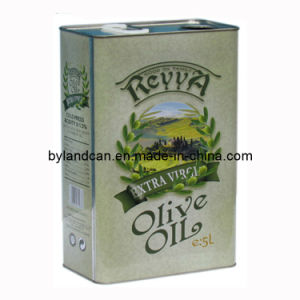 Metal Tin Can for Olive Oil 5 Liters