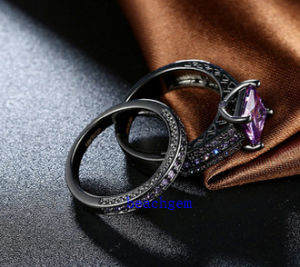 Black Plated Color CZ Jewelry Rings Set (R0848) pictures & photos