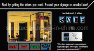 LED Letter, Changeable, Connectable, Linked Signage, LED Sign