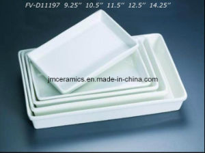 Porcelain Rectangular Plate (FV-D11197) pictures & photos