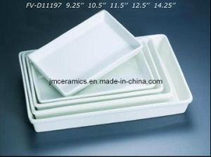 Porcelain Rectangular Plate (FV-D11197)