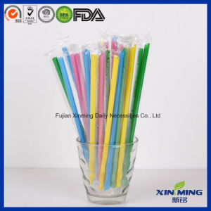 Film Wrapped Giant Cola Straw Disposable Plastic Drinking Straw pictures & photos