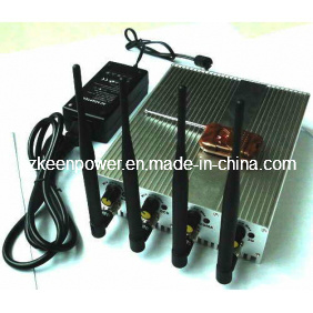 Adjustable Cell Phone 3G and WiFi Signal Jammer with Four Bands and Remote Control pictures & photos